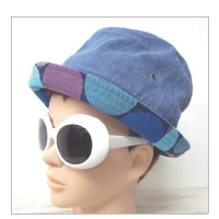Finch Fes HAT Light INDIGO×NAVY DOTMIX