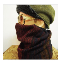 "Finch KaRaKuRi Big WatchCAP""Alpaca&Boa"""